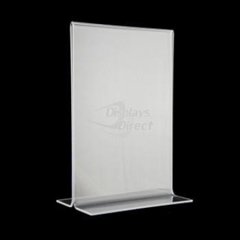 "5"" x 7"" Clear Bottom Loading Table Tent"