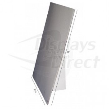 "8 1/2"" x 11"" White Chipboard Easel with Vinyl Cover"