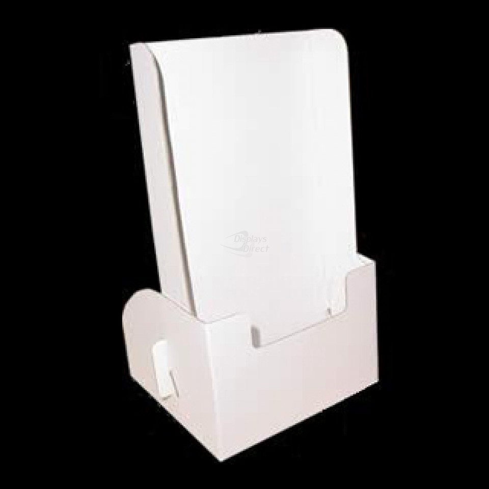 Corrugated countertop brochure holder fits 5quot x 9quot displays direct for Cardboard brochure holder